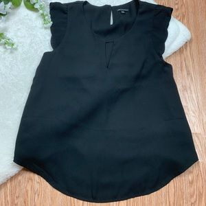 Shinestar Black Short Sleeve Blouse Small